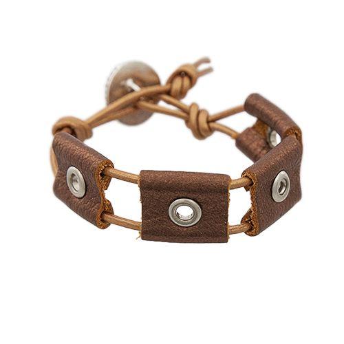 Metallic Rivet Leather Bracelet Project  | Auntie's Beads