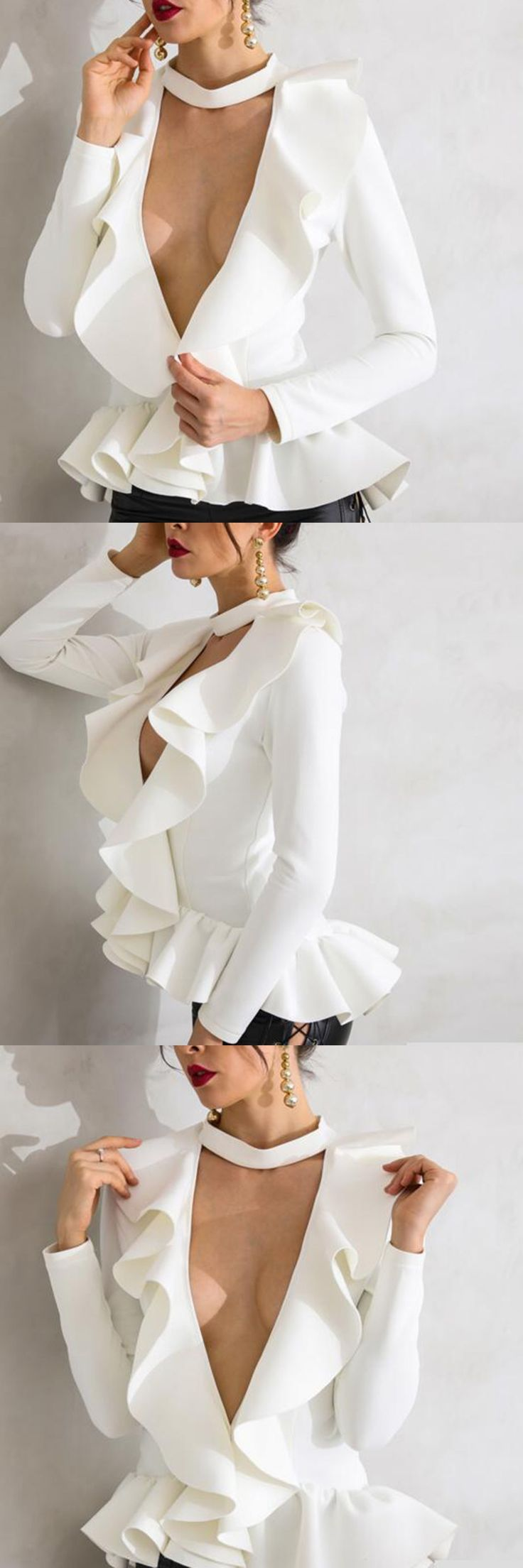Women Long Sleeve V-Neck White Suit Night Club Party Wear Coat 2018 New Designer Fashion Sexy Jaket For Ladies Drop Shipping Hot