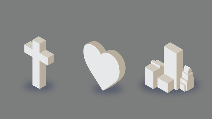 3D Isometric Adaptions of Cross of Grace's Icons.