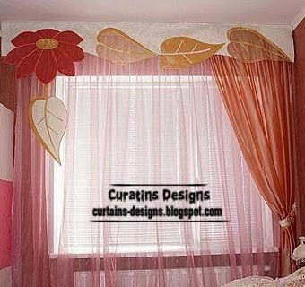 Pink curtains for girls room unique designs