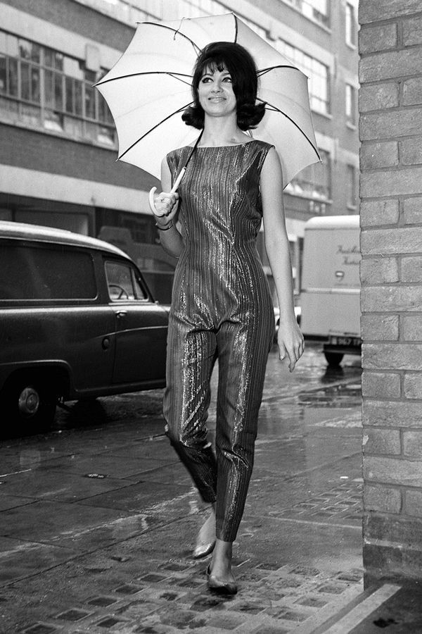 What Street Style Has Looked Like In The Past 100 Years #refinery29  http://www.refinery29.com/vintage-street-style-pictures#slide-24  This jumpsuit glistens, even in black and white.