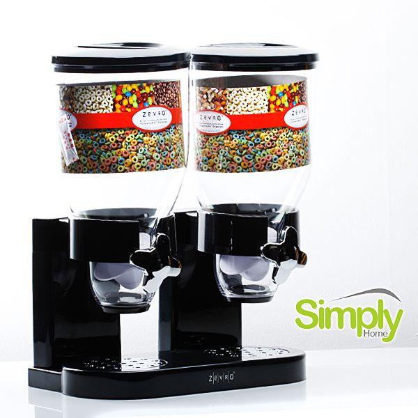 -Dispensador de cereal doble- Conserva tus cereales con estos dispensadores. Sella su sabor y frescura, dándoles una vida útil más larga y duradera.