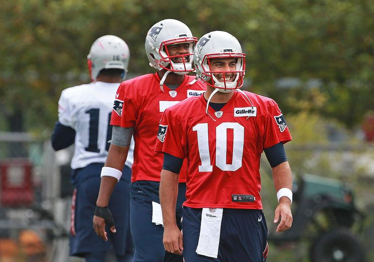 FOXBORO — There were some encouraging signs on the quarterback front as both Jimmy Garoppolo and Jacoby Brissett were present at the start of Patriots practice yesterday.As for how they looked, practice got closed to the media before either of the banged-up quarterbacks tossed a football. The Pats appear hopeful one will start Sunday against the Buffalo Bills, and perhaps both will be able to suit up for the AFC East encounter and final game of the Tom Brady suspension.