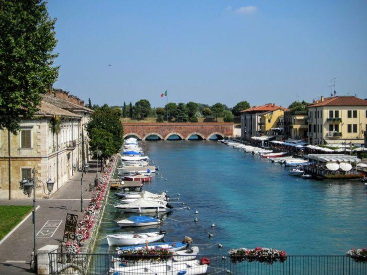Mincio rivier Gardameer Peschiera del Garda