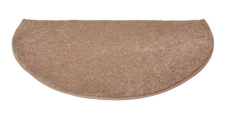 """Goods Of The Woods 10707 Flame Polyster Hearth Rug, Half Round, 27"""" X 48"""""""