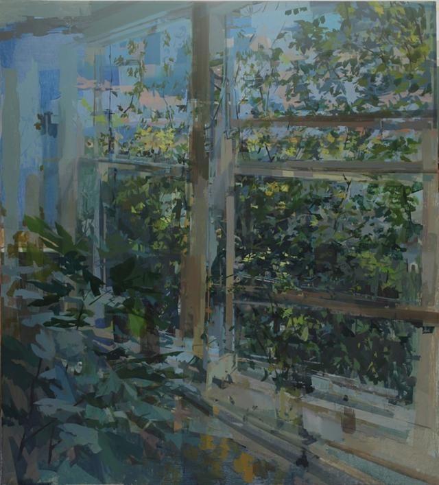 Stephanie Pierce, (liminal), 2013, oil on canvas, 44 x 40 inches (courtesy of the artist & Steven Harvey Fine Art Projects)