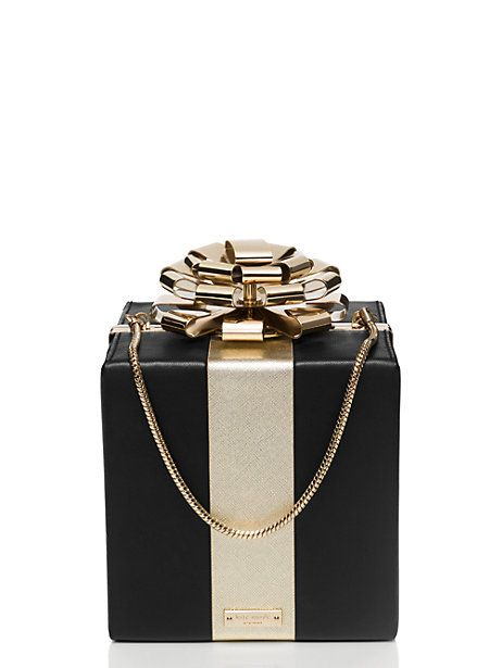Square Gift Box Clutch from Kate Spade New York...totally over the top, but so much fun...perfect for a holiday party