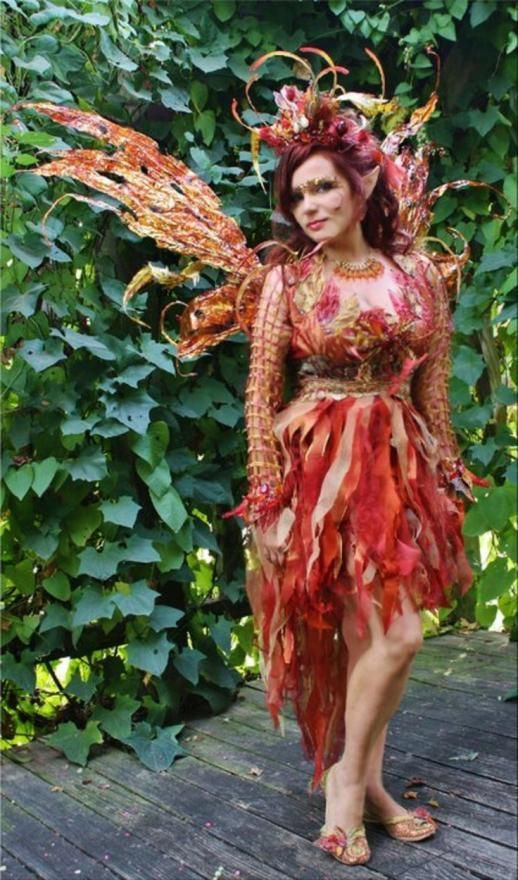 A red Woodland Fairy Costume.