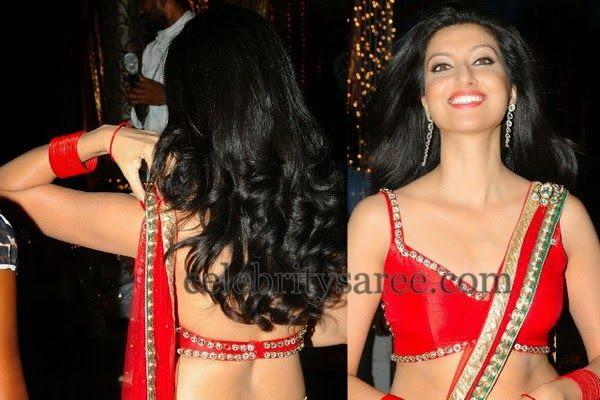Hamsa Nandini in Back Less Blouse | Saree Blouse Patterns