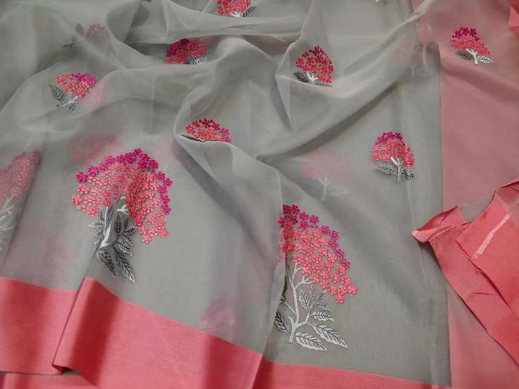 Kora by organza with allover embroidery Price:1999 Order what's app799573681... 6