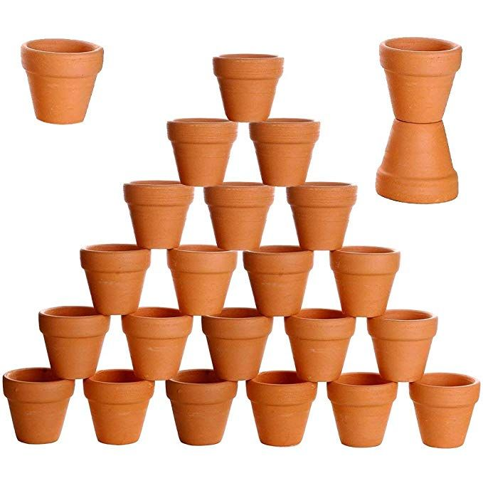 Besttoyhome 24 Pcs Small Mini Clay Pots 2 Terracotta Pots Clay Ceramic Pottery Planter Cactus Flower Pots S Miniature Clay Pots Pottery Planters Plant Crafts