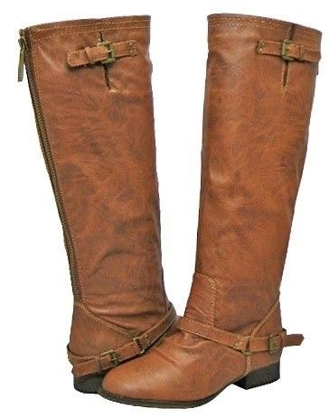 Cute brown leather riding boots 2013 2014 ♥ Get this look at @SPARKTREND for $29, click the image to see! #riding #boots #boot
