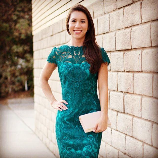 Nordstrom Tadashi Shoji lace teal green aqua dress, Tory Burch robinson chain wallet blush pink, LASIK eye surgery, Dr. Maloney, Maloney Vision Institute