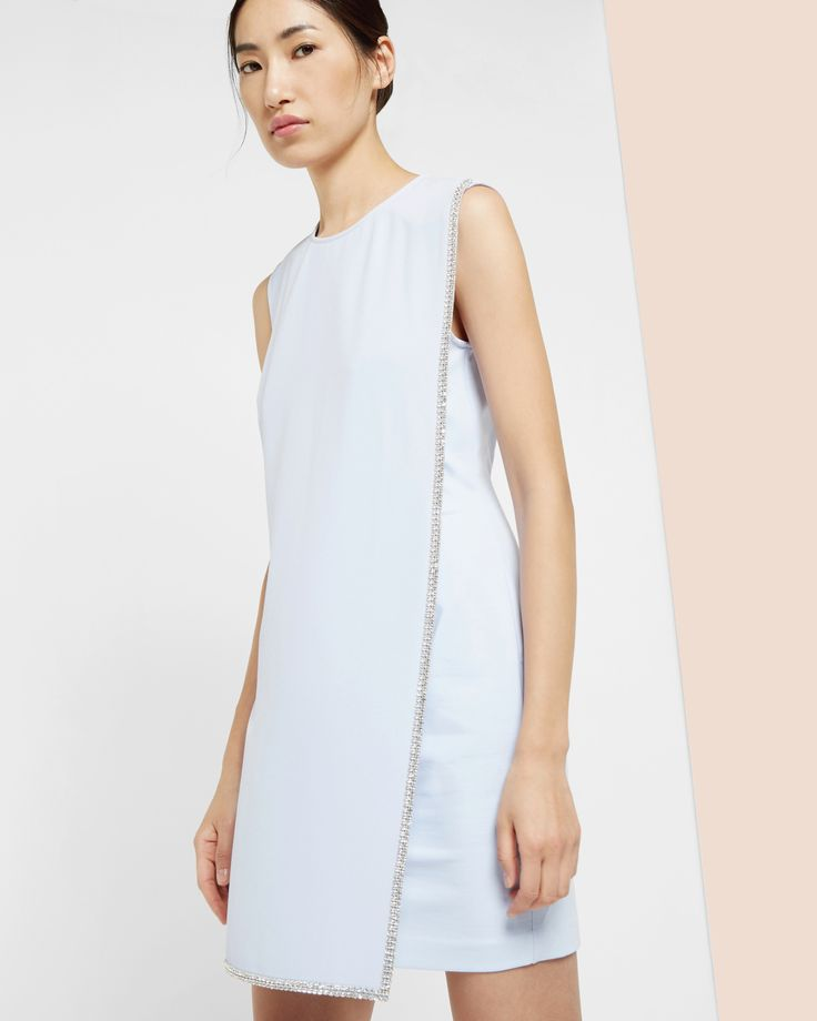 Double layer embellished tunic dress - Blue | Outlet | Ted Baker UK