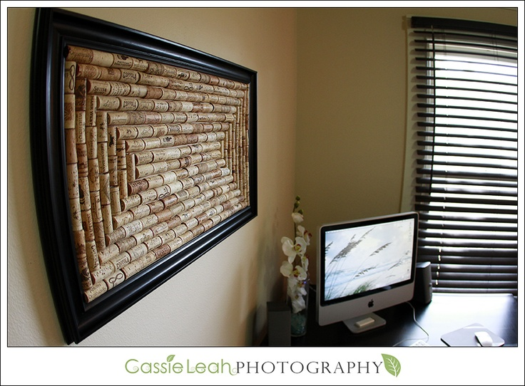 Office cork-board: Collection Corks, Crafts Ideas, Wine Corks, Offices Corks Boards, Inspiration Boards, Cork Boards, Upcycled Inspiration, Offices Ideas Organizations, Projects Ideas