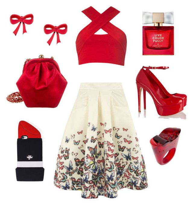 """Butterflies"" by thestrawberrytales on Polyvore featuring Jolie Moi, Motel, Schutz, Chanel, Valfré, Kate Spade and Pasionae"