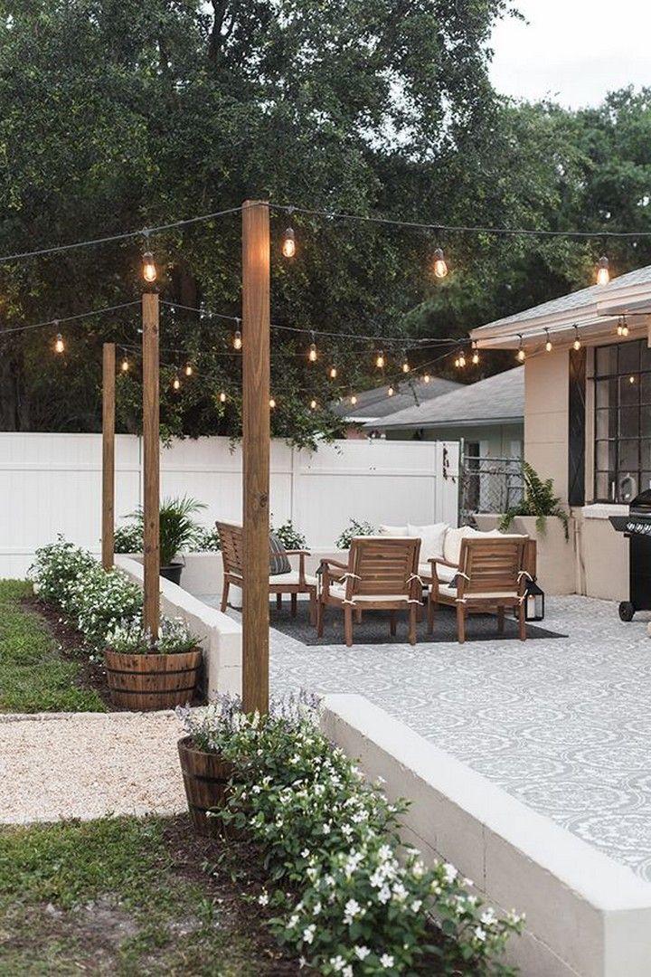 Awesome Diy Backyard Patio On A Budget Backyard Makeover Small Patio Decor Backyard Decor