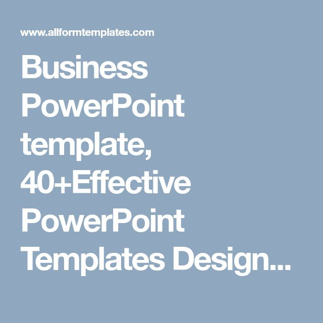 Business Powerpoint Template 40effective Powerpoint Templates