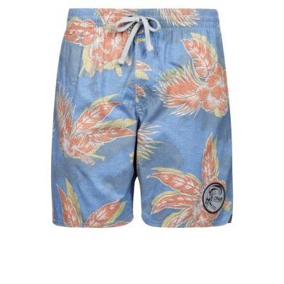 €70, Hellblaue Shorts mit Blumenmuster von O'Neill. Online-Shop: Zalando. Klicken Sie hier für mehr Informationen: https://lookastic.com/men/shop_items/241618/redirect