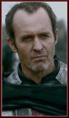 Stannis Baratheon  Also Known As: The King in the Narrow Sea  Status: Alive Last seen at Dragonstone -- Davos has relayed the Nightswatch call for help against the White Walkers and Melisandre confirms the danger in the North is more important than the struggle for the Iron Throne. S03E10  Titles: Lord of Dragonstone; Master of Ships (Position on Small Council while King Robert was alive)   Children: Shireen Baratheon (daughter)    Allegiance: House Barantheon of Dragonstone
