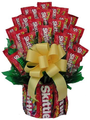 Skittles Candy Bouquet - Candy Bouquet