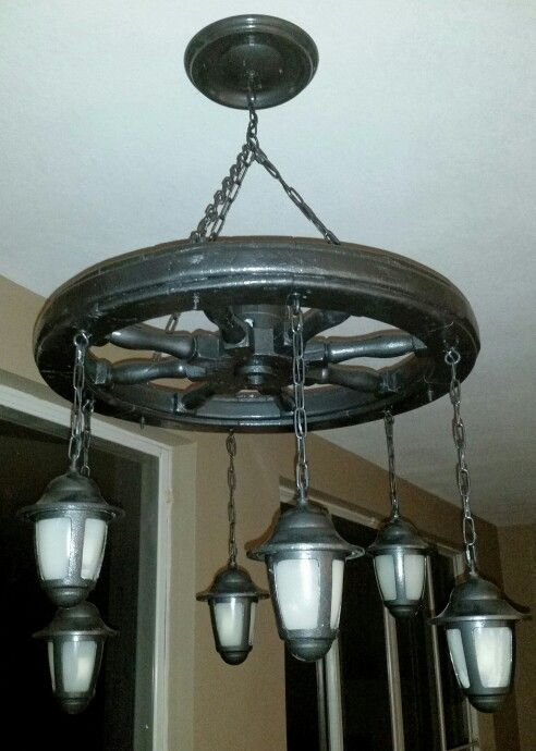 The 13 best ships wheel chandelier images on pinterest chandelier ships wheel chandelier aloadofball Image collections