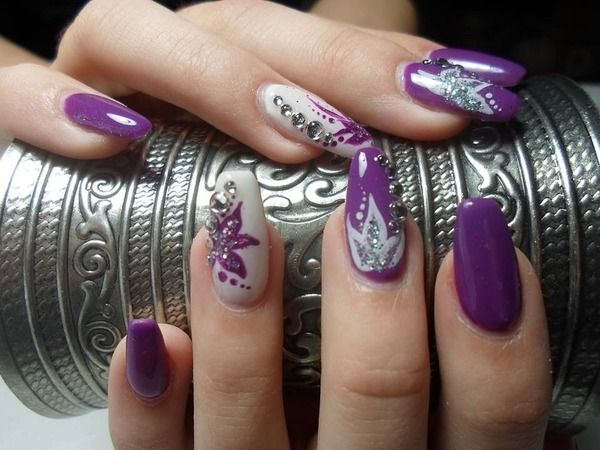 Nails - 223 Best Purple Nails Images On Pinterest Violet Nails, Nail Art