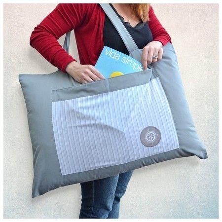 Porta-Travesseiro com Alça para Viagem (Somente Capa) - Viagema - Para quem tem Fome de Viagem