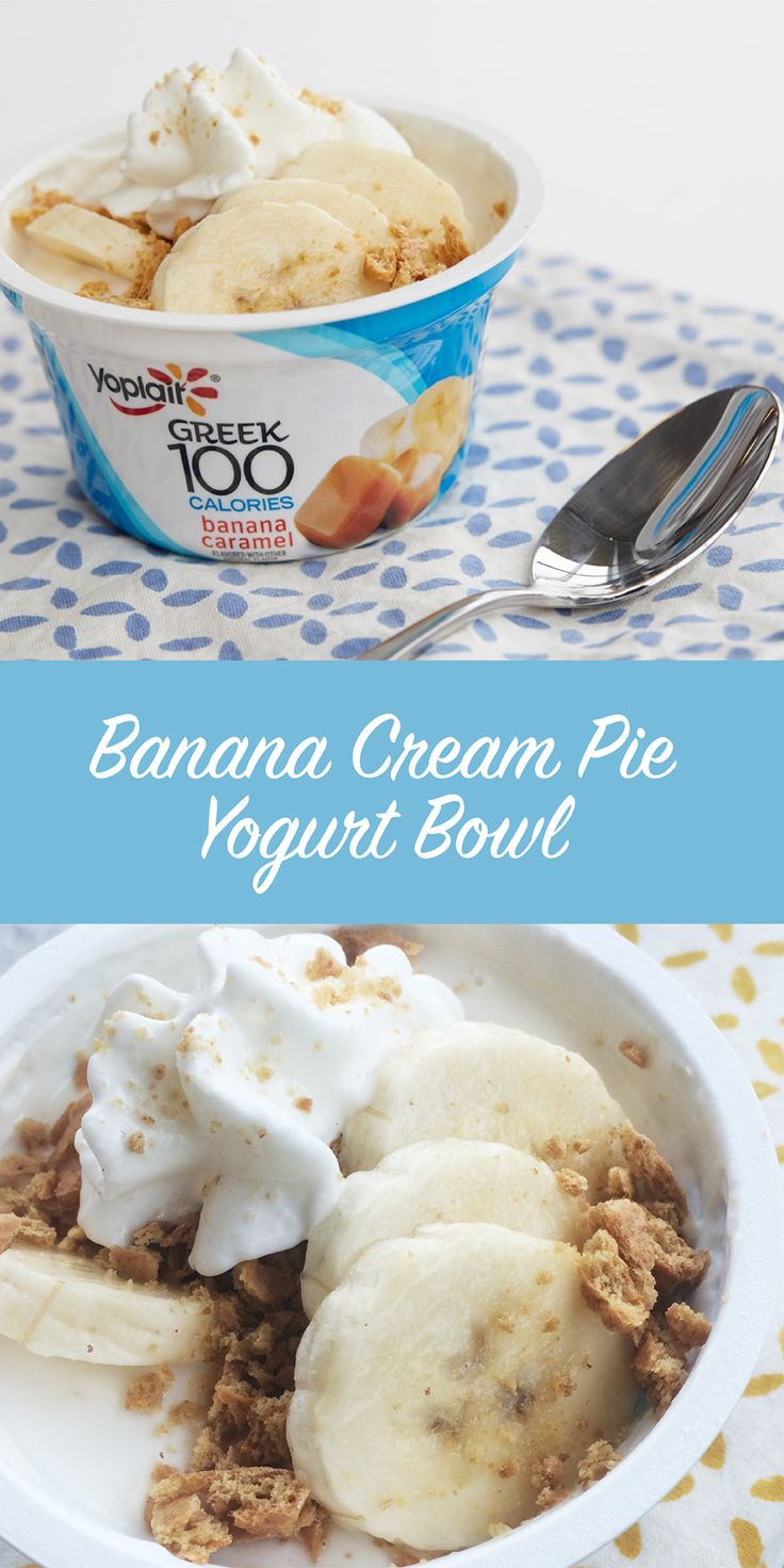 Caramel Banana Cream Pie Yogurt Cup