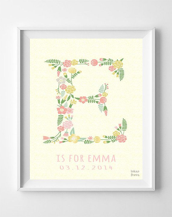 Best 25 personalized baby gifts ideas on pinterest baby name personalized baby gifts personalized prints erin erica eve eva eleanor elena personalized poster baby gift dorm decor negle Choice Image