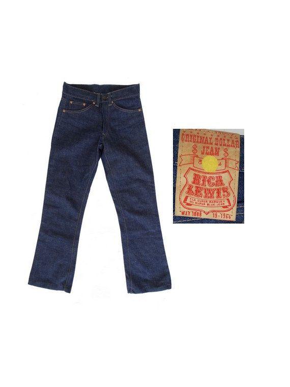1960s MOD new old stock rica  LEWIS w24  denim pants  // size eu 34 - uk 6 - us 2