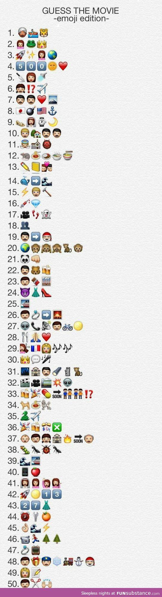 Guess the emoji movie                                                                                                                                                                                 More