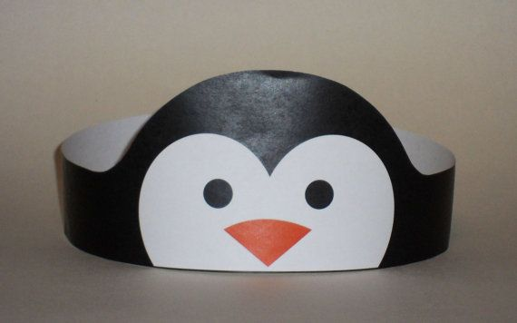 Create your own Penguin Crown! Print, cut & glue your penguin crown together & adjust to fit anyones head!    • A .pdf file available for instant