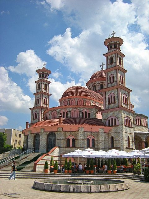 The cathedral of Korçë, Albania.