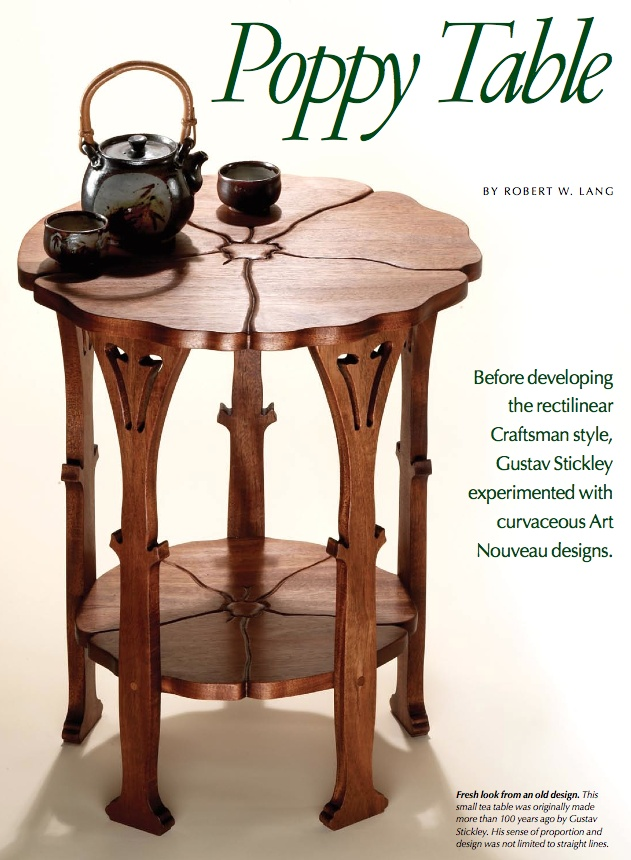 Stickley Poppy Table Article With Scale Drawings 2009 Collector Edition