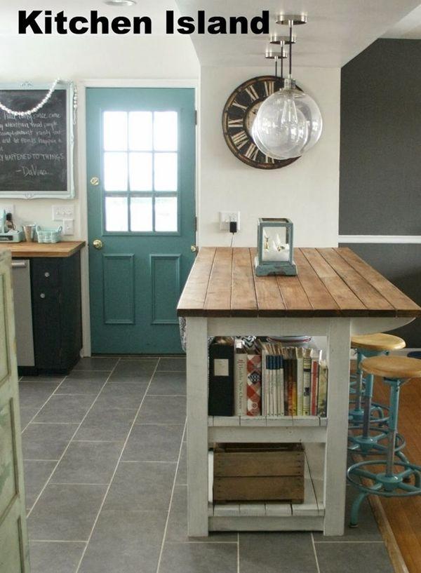 cocinas con isla a partir de muebles reciclados