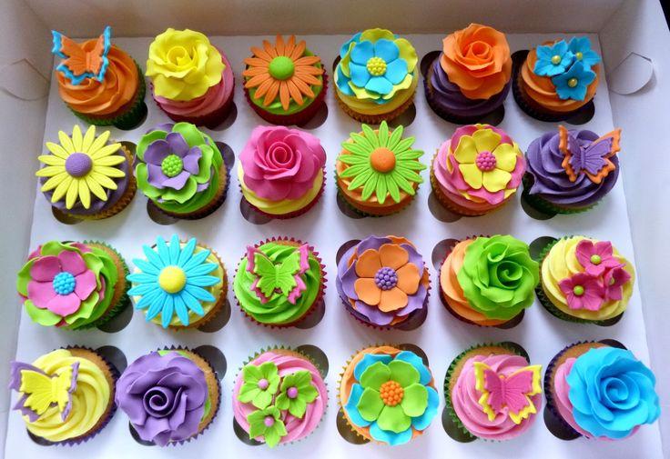 bright coloured cupcakes - Google Search