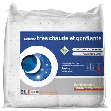 Couette 240x220 cm GRAND CONFORT - pas cher ? C'est sur Conforama.fr - large choix, prix discount et des offres exclusives Couette sur Conforama.fr