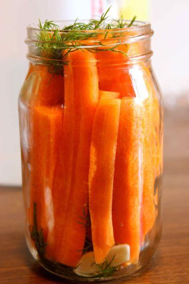 Homemade Pickled Carrots