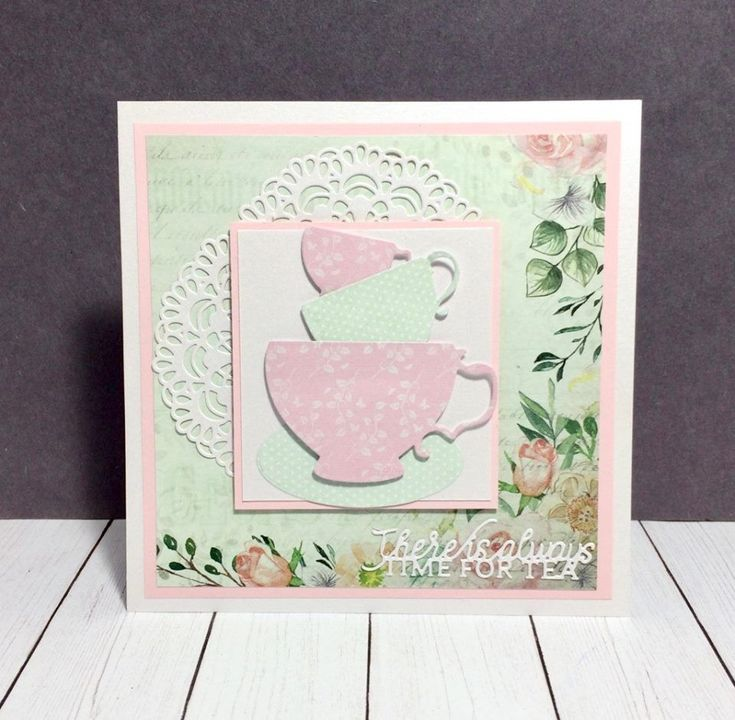 Handmade card using Crafter's Companion Vintage Tea Party Collection from Sara Davies' Crafter's Companion. Judy VanZandt