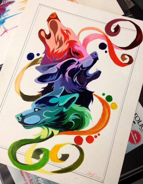 Wolf Color Wheel by Lucky978, Mar 22, 2014 in Designs & Interfaces > Tattoo Design