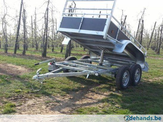 Dubbelas KIPPER aanhangwagen +coc+gratis slot of neuswiel! - Te koop