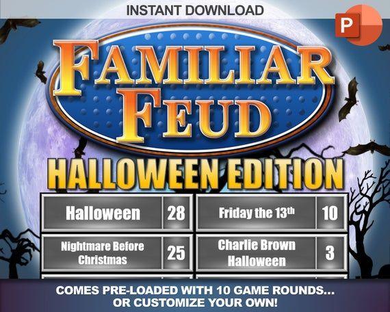 Halloween Familiar Feud With Working Scoreboard Interactive