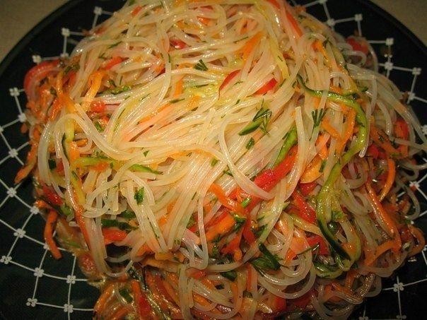 Как приготовить фунчоза по-корейски - рецепт, ингридиенты и фотографии