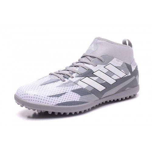 Beste Adidas ACE 17.3 TF Hvit Gra Fotballsko