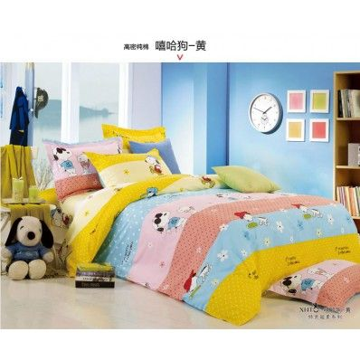 Snoopy Polka Dot Full Queen Size Bedding Kids Bedding