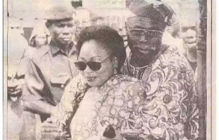 Laitspeed: Rare 1999 throwback picture of Stella and Obasanjo...