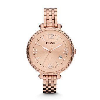 Fossil Damen-Armbanduhr Analog Edelstahl ES3130 von Fossil