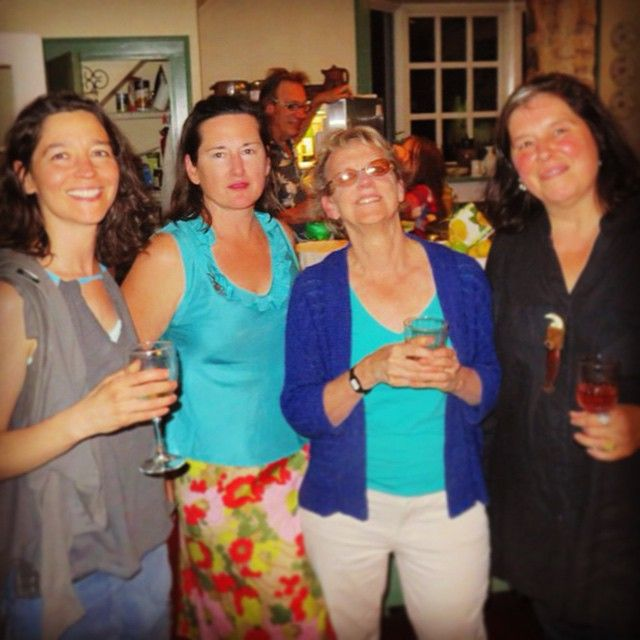 "Celebrating @catherineahowe's opening ""Supreme Fiction: #Monotypes & Mylar #Paintings"" at Cross #ContemporaryArt with #EleanorHeartney #PortiaMunson #printmaking #nyaaMFA #feminism #rockstar @nyacademyofart photo: David Ebony on view thru 7/26 info: http://bit.ly/ccachow2"