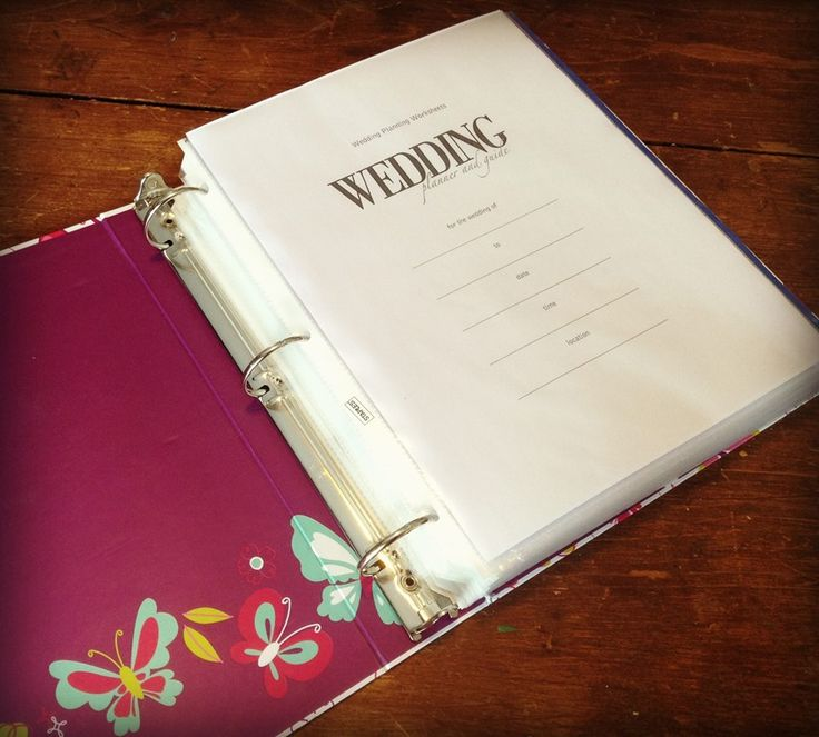 Best 25 Wedding planner binder ideas on Pinterest Wedding